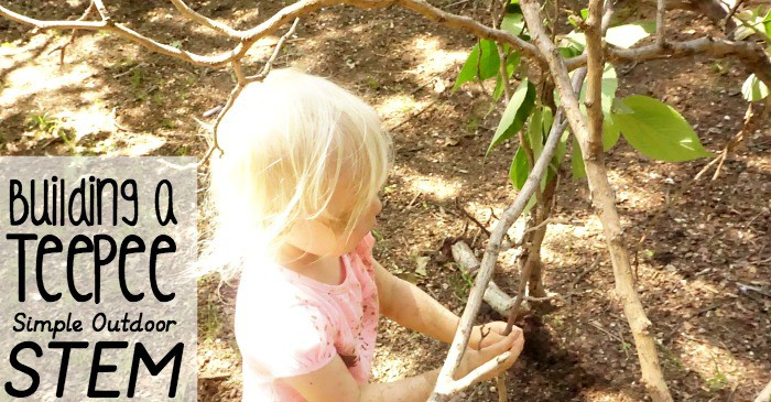 building a teepee - simple outdorr stem activity fb