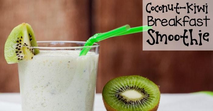 coconut-kiwi breakfast smoothie fb