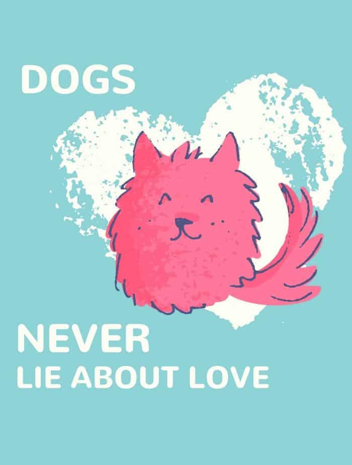 dog love printable - in post