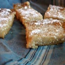 Gluten-Free & Vegan Lemon Bars