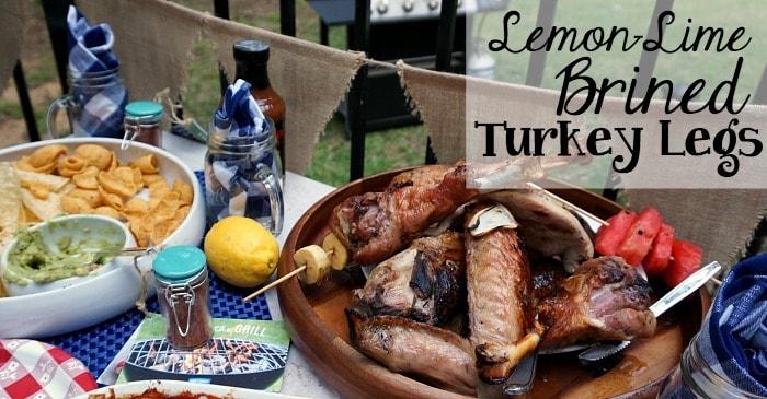 easy lemon-lime brined turkey legs on the grill fb
