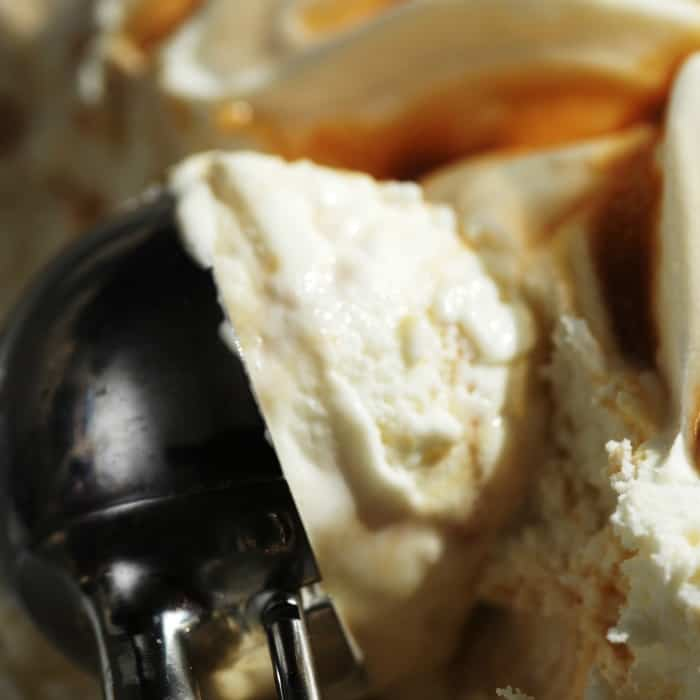 easy recipe for dairy-free salted caramel ice cream sq