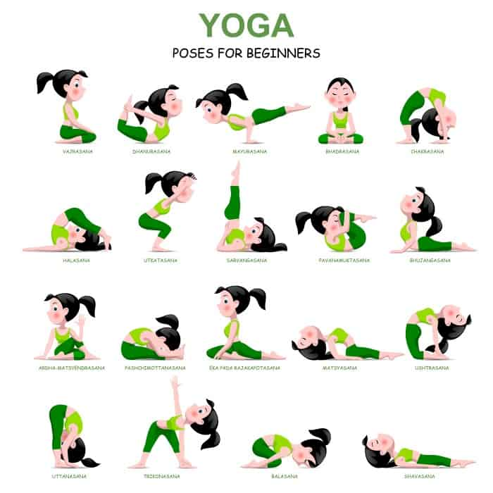 I decided pull together 20 Easy Yoga Poses for Beginners with a Free Printable, so that I had a little guide--and guess what?! It was perfect! #nerdymammablog #yoga #yogaforbeginners #beginneryoga #freeprintable #yogafreeprintable #yogaposesfor beginners