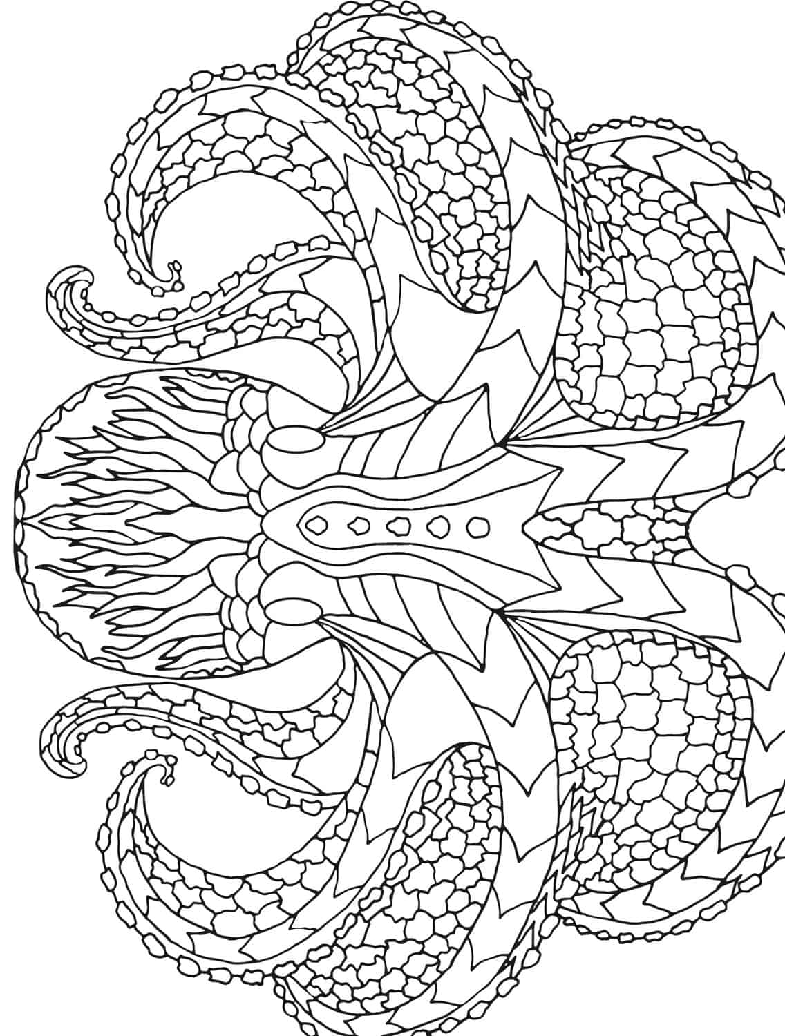 18 Absurdly Whimsical Adult Coloring Pages Page 7 of 20 Nerdy