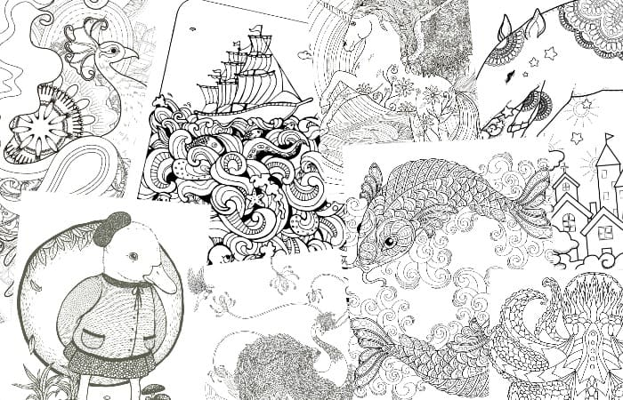 18 Absurdly Whimsical Adult Coloring Pages - Nerdy Mamma