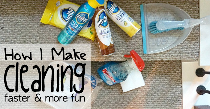 how I make cleaning faster and more fun fb