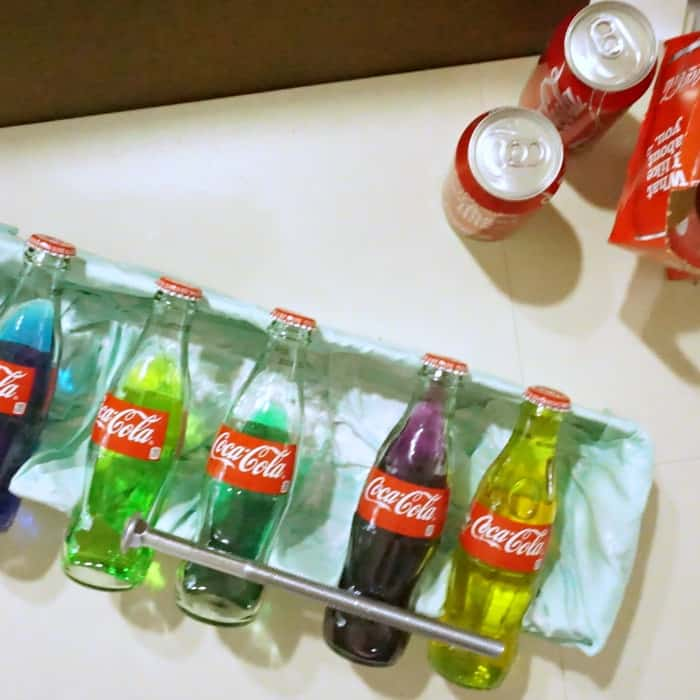 how to make a xylophone from coke bottles sq