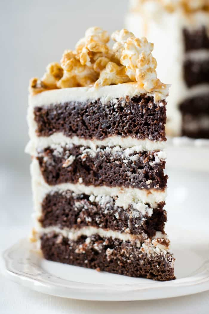 how to make vegan chocolate cake with caramel corn on top random