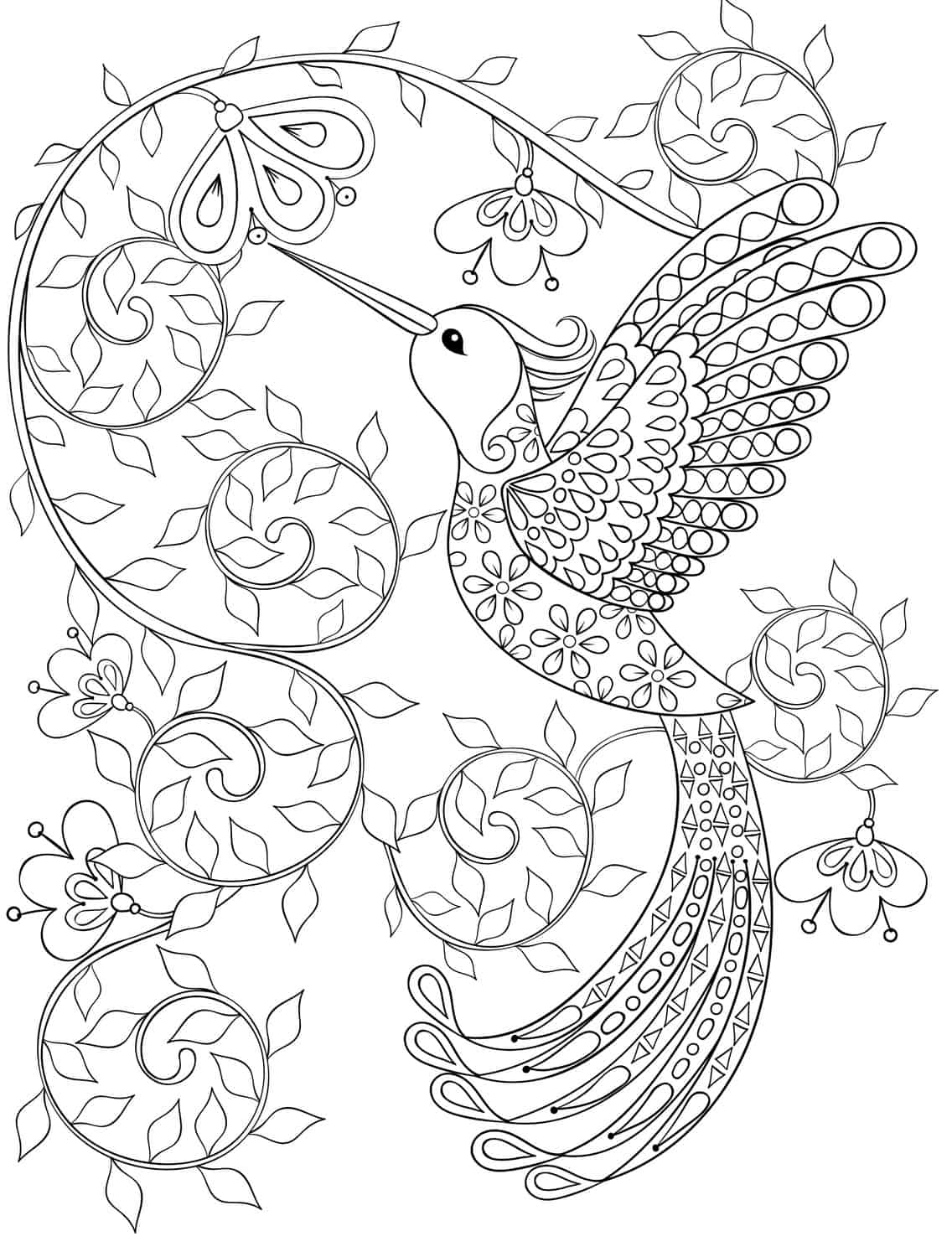20 Gorgeous Free Printable Adult Coloring Pages Page 11 Coloring Pages For Adults Bird