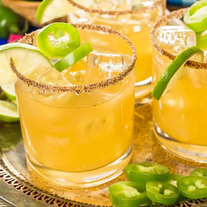 jalapeno infused margarita on the rocks recipe sq