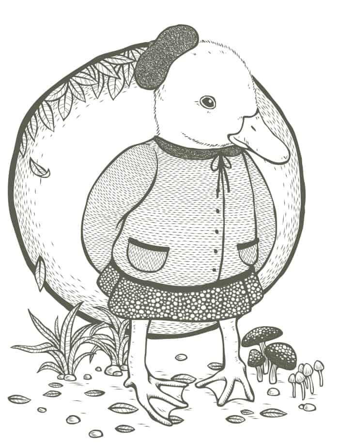 odd duck coloring page for adults