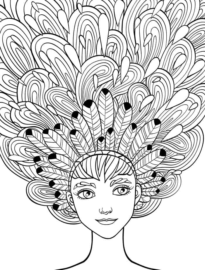 pretty adult coloring pages free printable