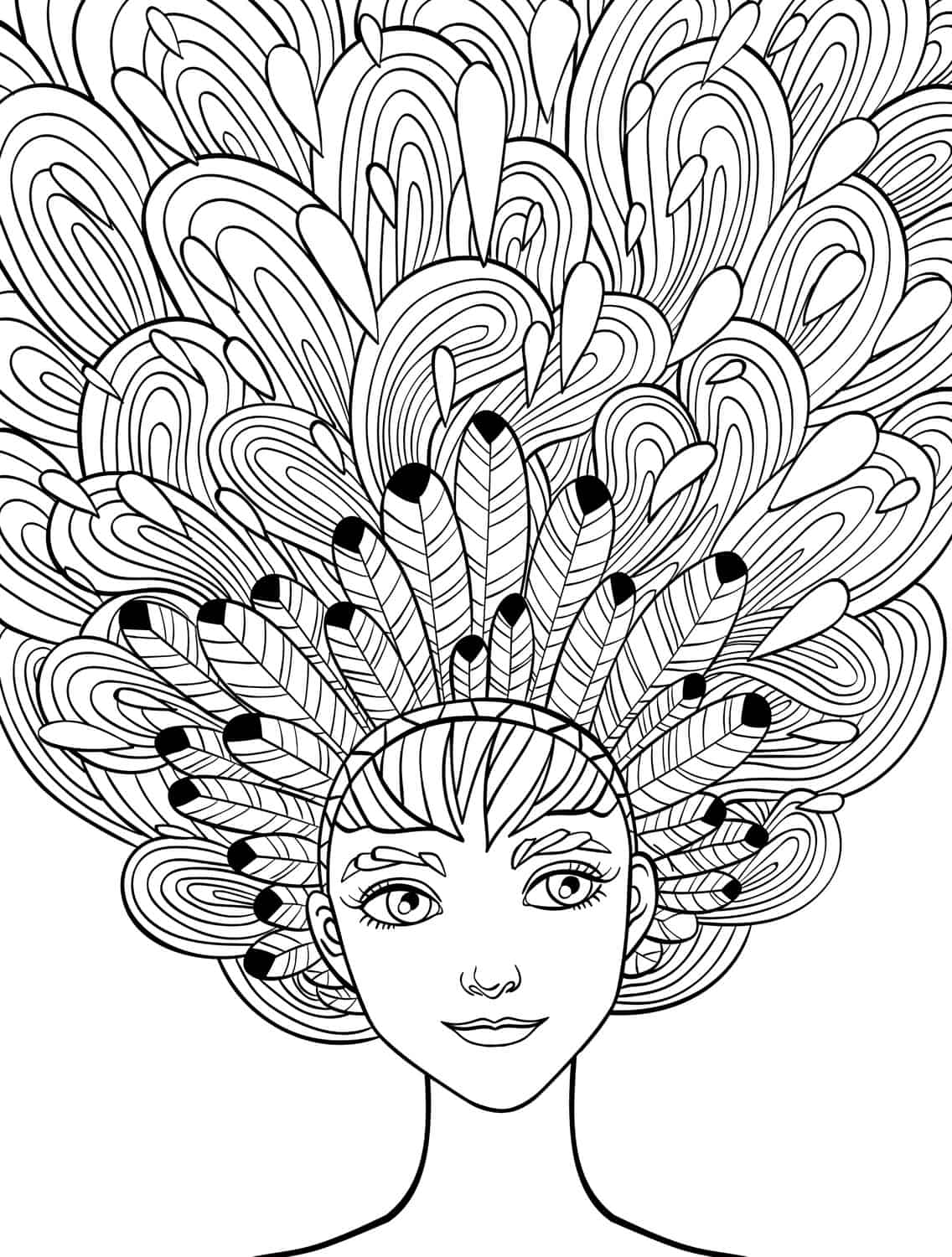 10 crazy hair adult coloring pages page 4 of 12 nerdy