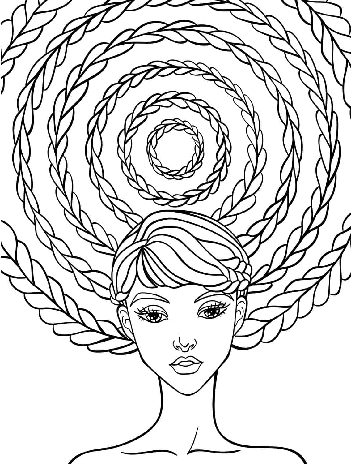 relaxing adult coloring pages downloads - Hair Coloring Pages
