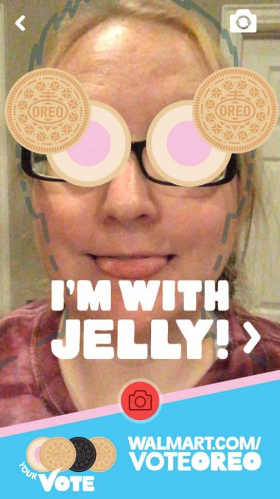 selfie with jelly donut OREO Flavor Vote