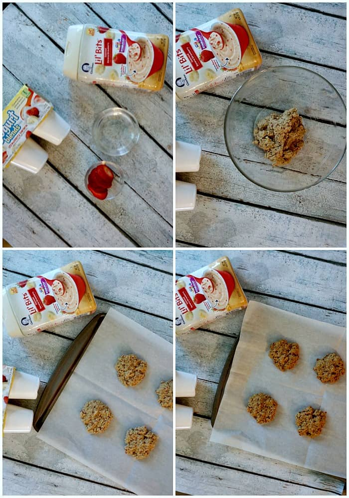 tutorial for making 3-ingredient breakfast cookies from baby food