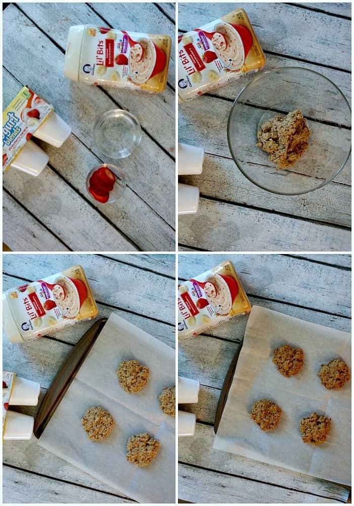 tutorial for making 3-ingredient breakfast cookies from baby food