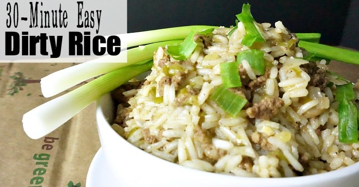 30-minute easy dirty rice fb