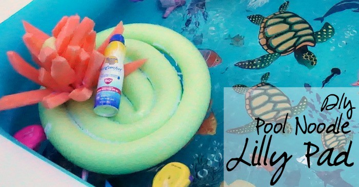 DIY Pool Noodle Lilly Pad tutorial fb