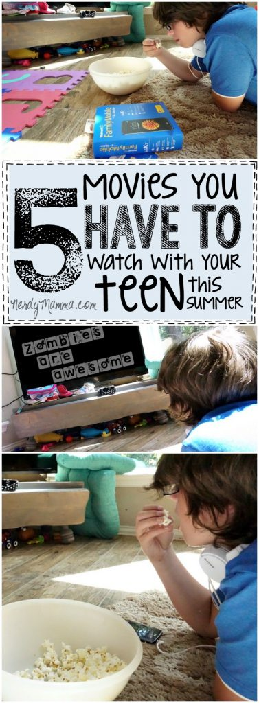 I ABSOLUTELY love these 5 movies to watch with your teen this summer. Great ideas for bonding a little! LOL!