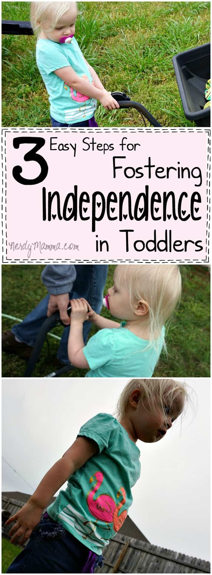 I LOVE these 3 easy steps for building independence in toddlers! How simple--but effective.