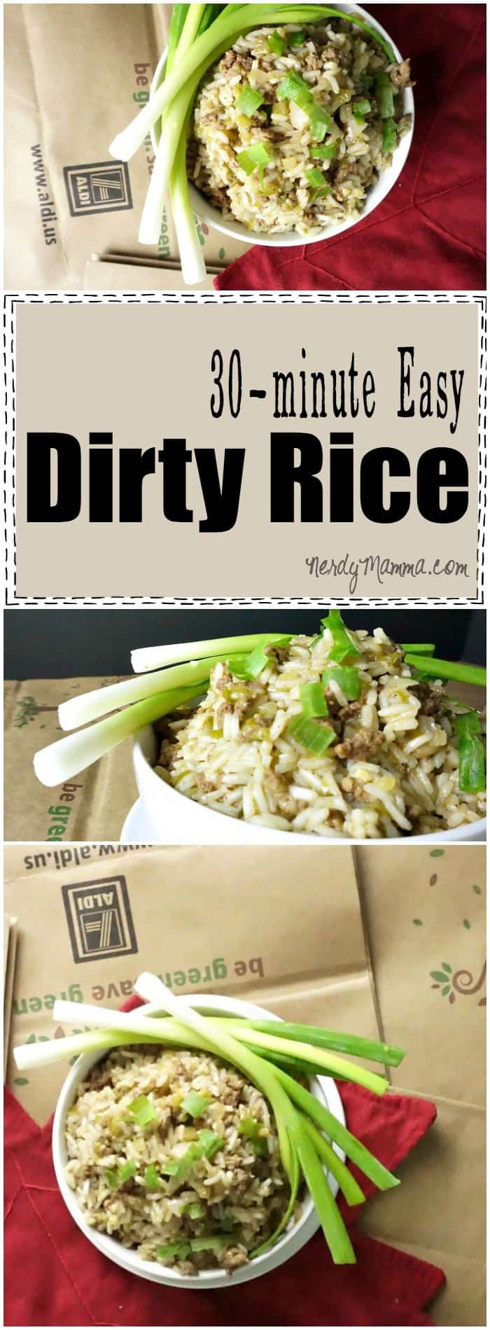 I absolutely love this easy recipe for dirty rice! I had no idea you could make it this fast at home...no need to buy the box anymore! LOL!