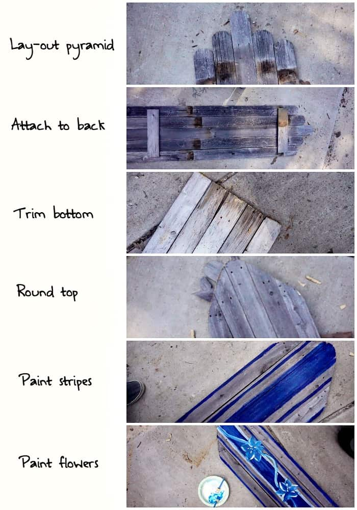 I absolutely love this easy tutorial for throwing together a surfboard to hang on your wall using just pallet wood, screws and some paint! Awesome!