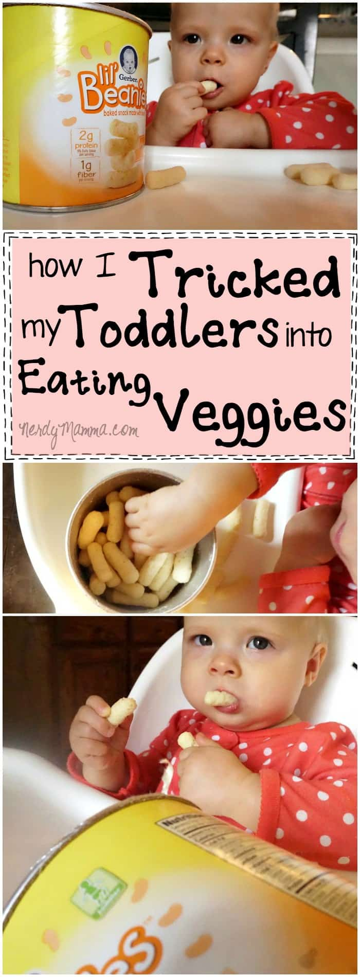 I love this mom. She's hilarious--tricking her toddler into eating veggies. Just clever. LOL!