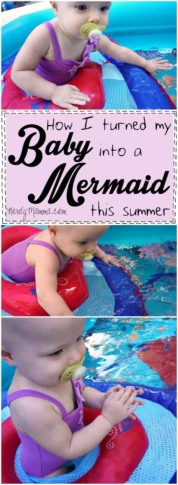 I love this mom's easy way to make her baby comfortable in the water! This is awesome.