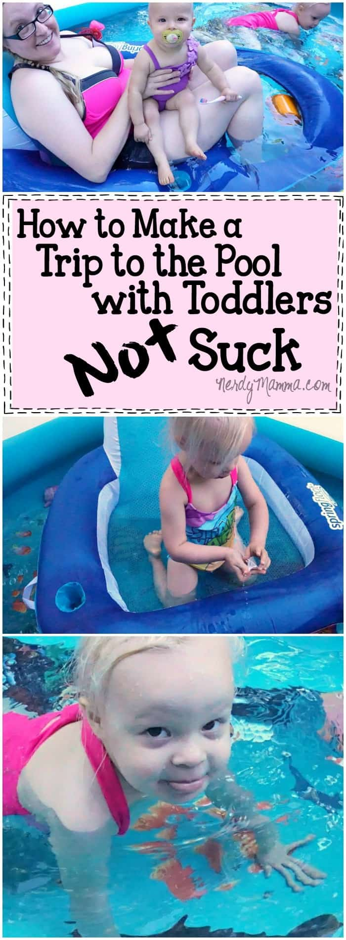 I love this mom's ideas on how to make a Trip to the Pool with Toddlers fun for both mom and the kids! LOL!