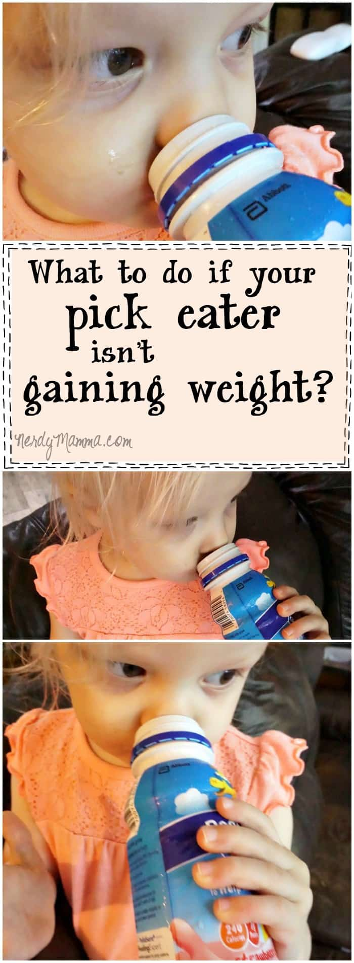 I love this mom's thoughts on what to do if your toddler isn't gaining weight. So simple--and easy. I could do this...