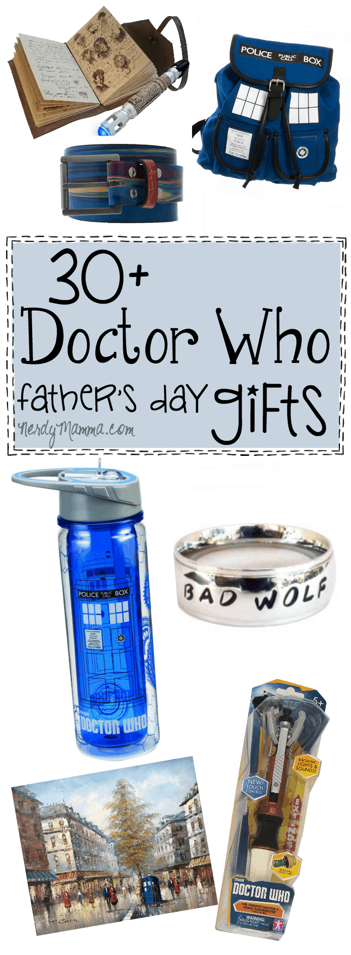 Oh, these 30 Doctor Who Father's Day gift ideas are EXACTLY what I needed...my husband is such a whovian--this will be perfect!
