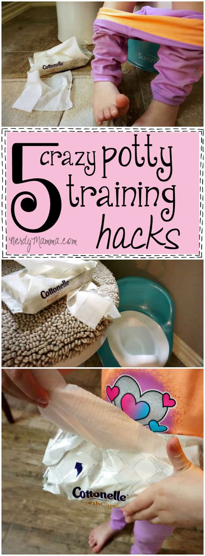 These Potty Training Hacks are just so clever! I love what she does with the kid's backpack. LOL!