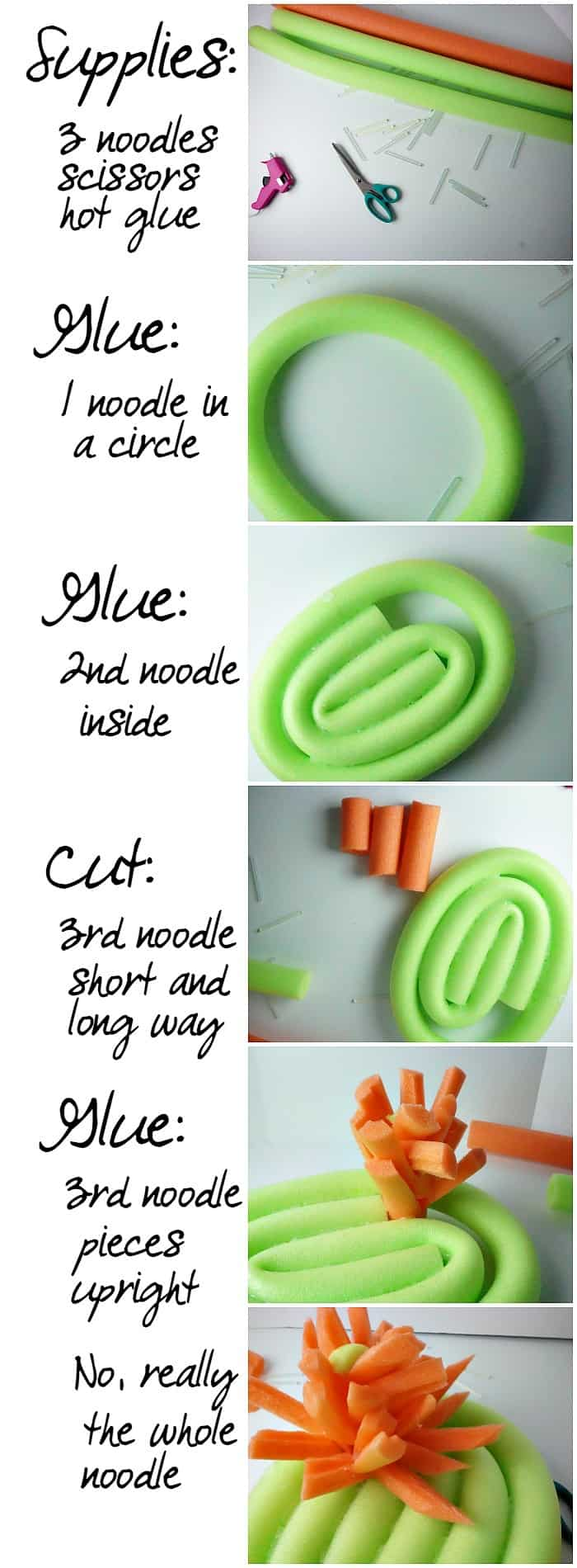 This is such a cute tutorial for making a lily pad from a pool noodle!