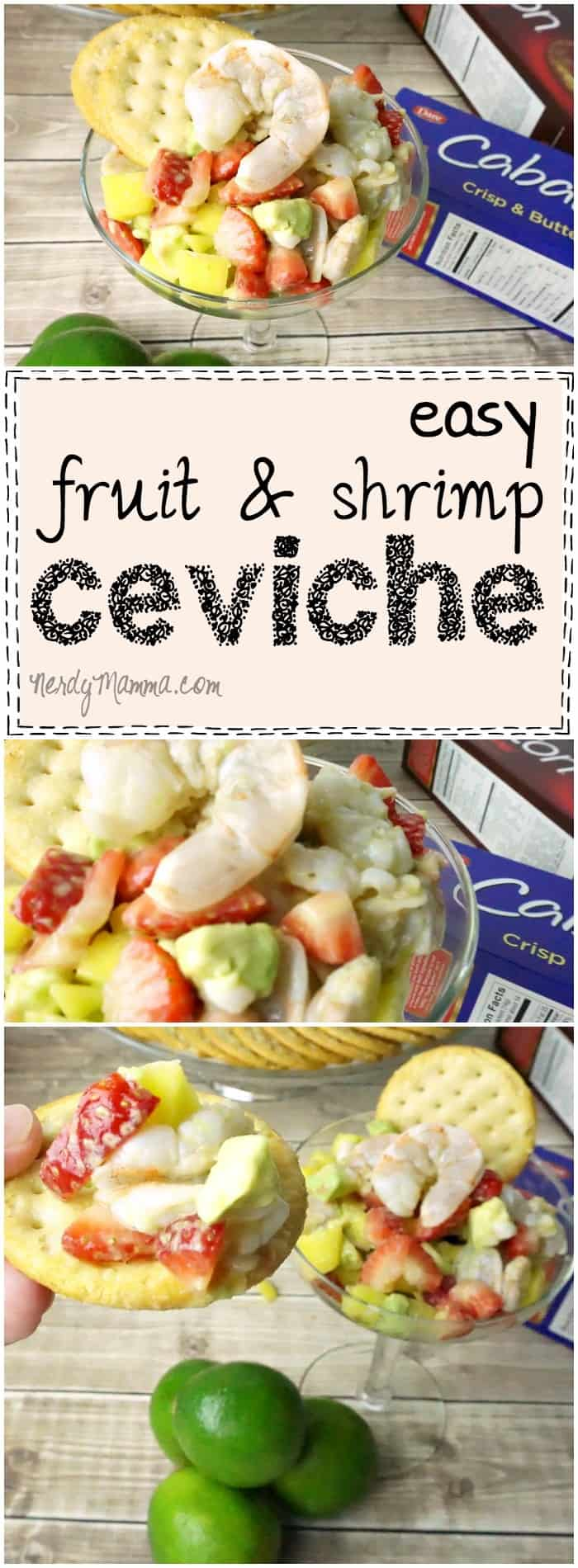 This recipe for fruit & shrimp ceviche is so EASY! I love that you don't even cook the shrimp...that's so cool...