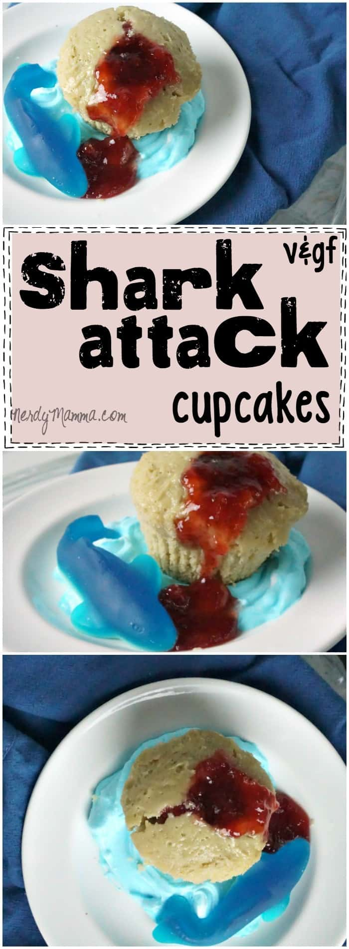 This recipe for gluten-free and vegan cupcakes for shark week is brilliant. So simple--but so cute. I love it!