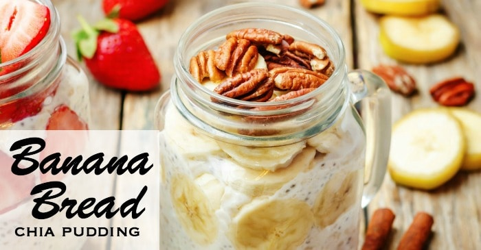 breakfast chia pudding with bananas and nuts fb