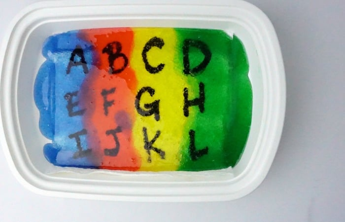 easy alphabet gel tracing game feature