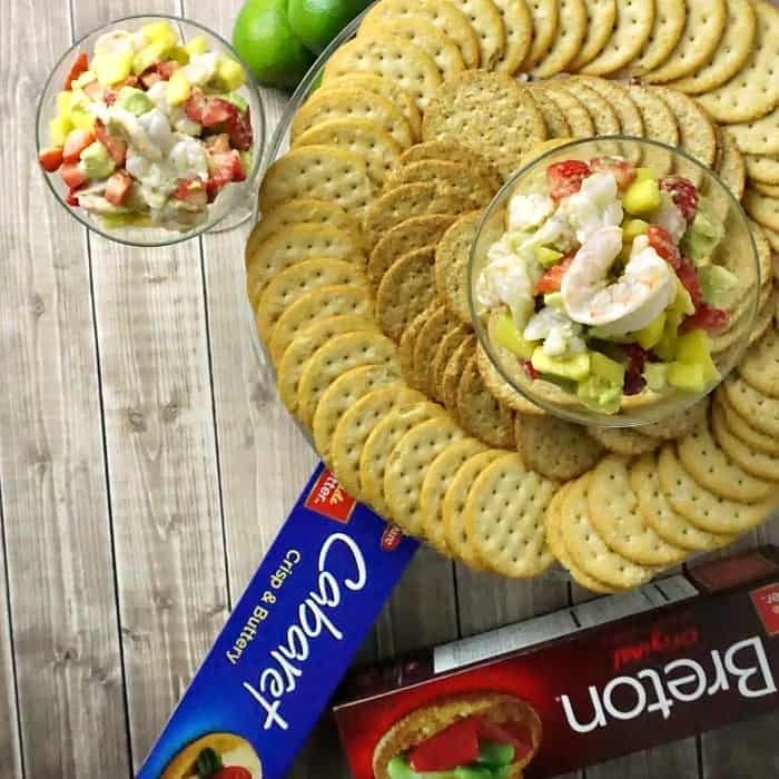 easy appetizer with shrimp and fruit random