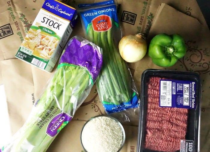 easy one-pan dirty rice recipe ingredients