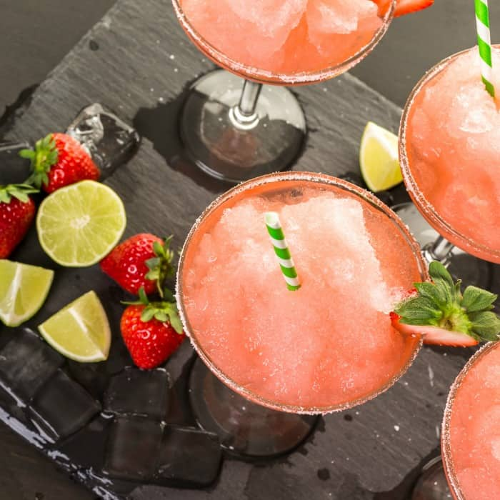easy recipe for strawberry margaritas with fresh strawberries sq
