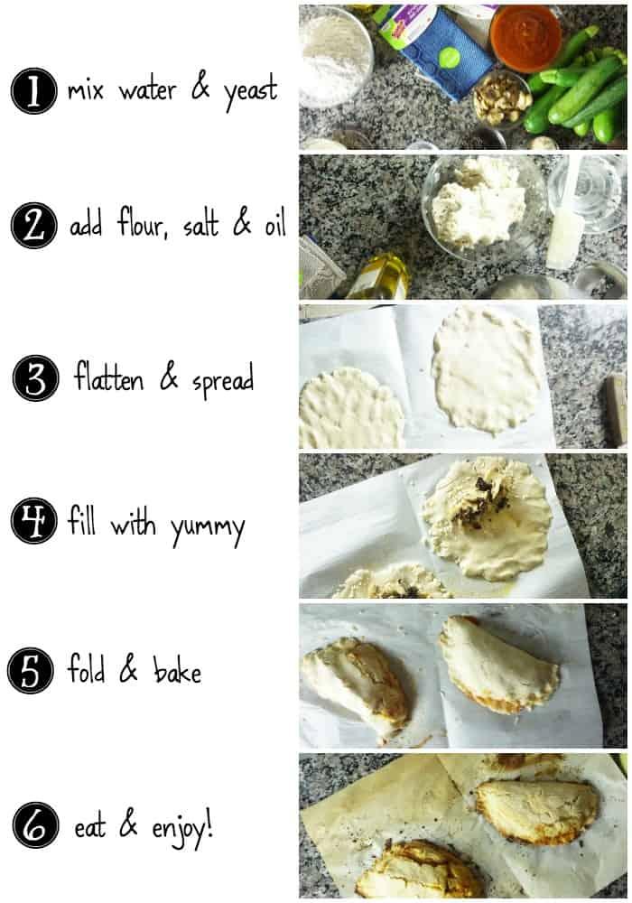 easy tutorial for making gluten-free calzones tutorial