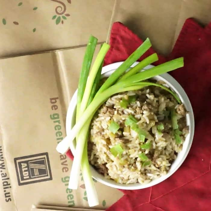 fast recipe for dirty rice sq