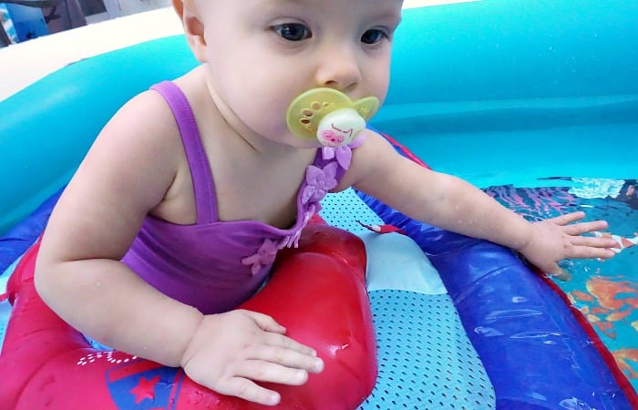 how I got my baby to love the water feature
