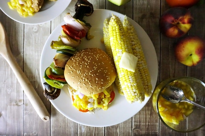 how to make a peach salsa for burgers random