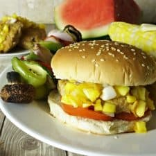 Sweet 'n' Southern Burger with Mexican Street Corn