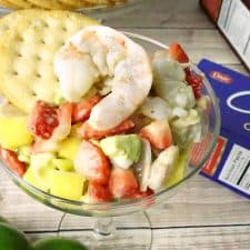 Easy Fruit & Shrimp Ceviche Recipe – Mexican Shrimp Cocktail