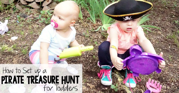 how to set up a pirate treasure hunt for toddlers fb