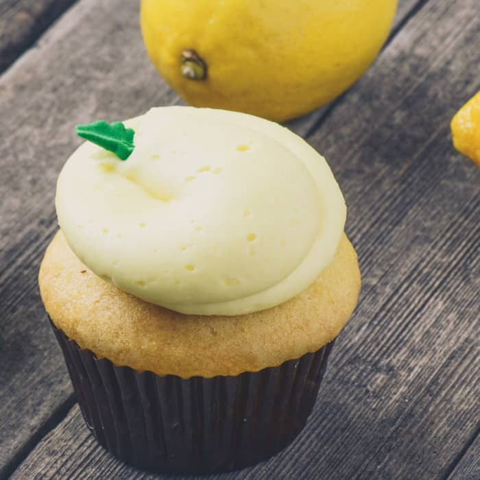 lemon cupcake recipe with real lemons sq