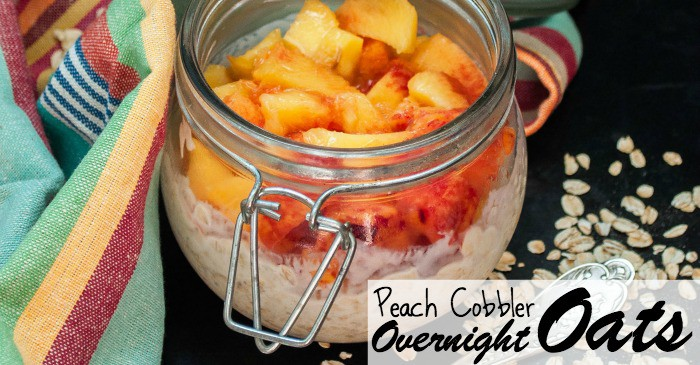 peach cobbler overnight oats recipe fb